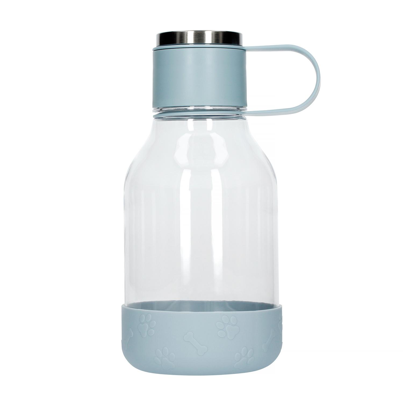 ASOBU Láhev na vodu s miskou pro psy - 1,5l modrá