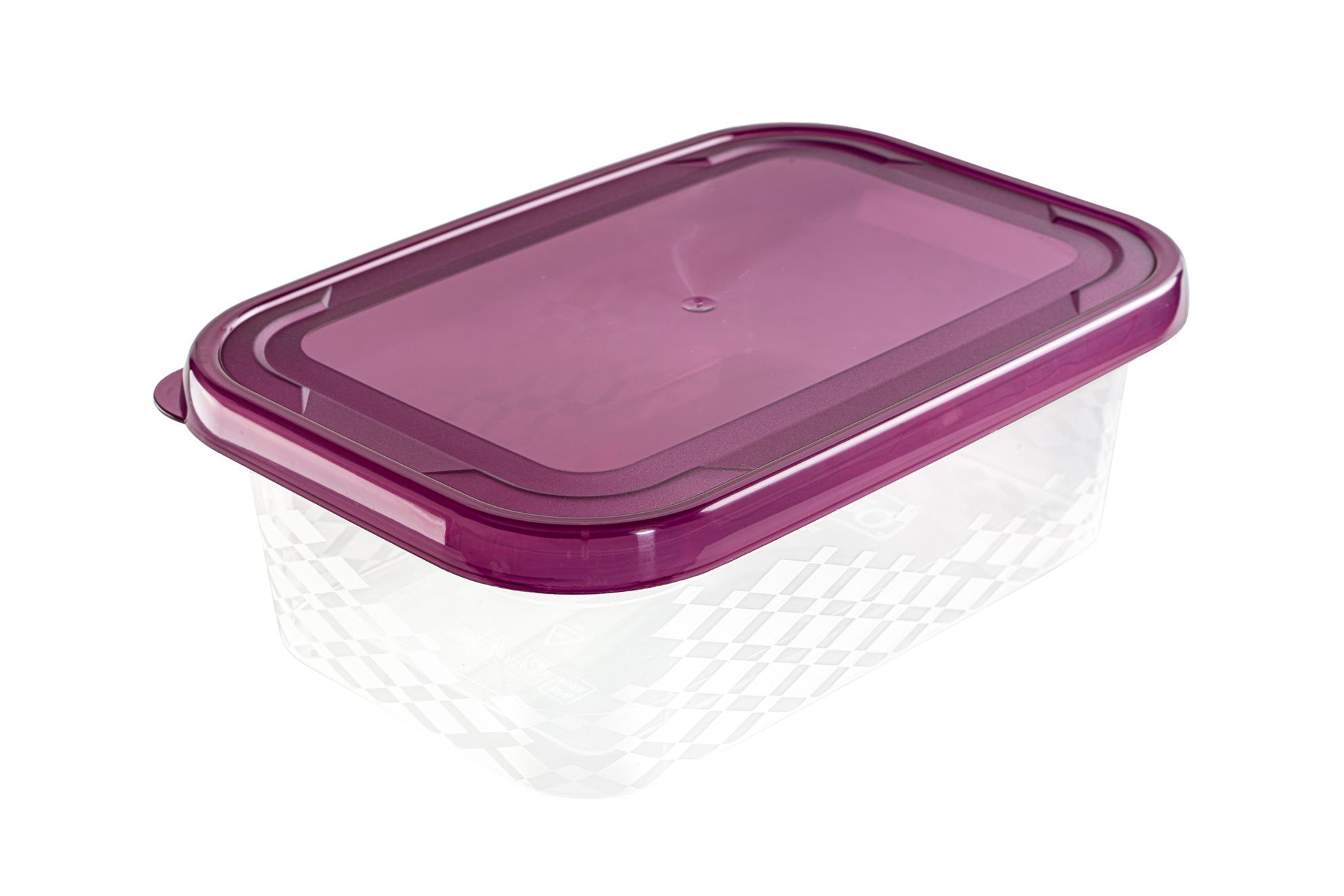 Branq Sada dóz na potraviny Ori purple 5ks - obdelníková