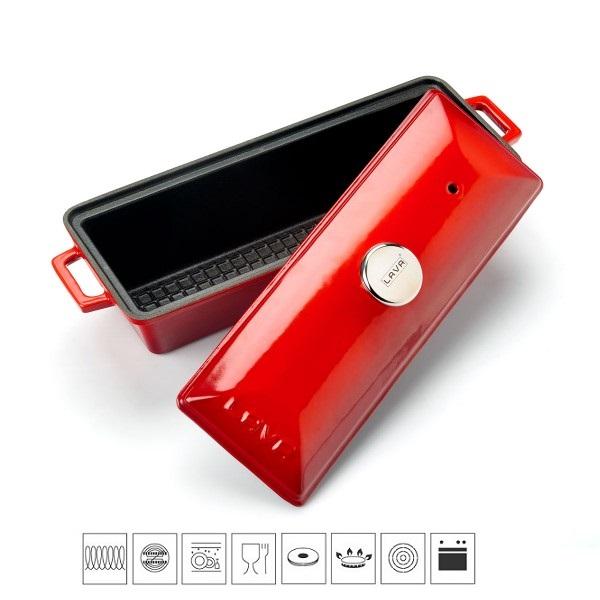 LAVA METAL Litinová terina - červená