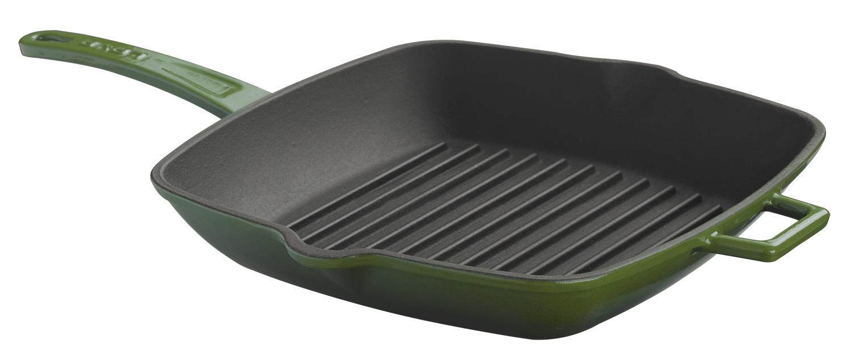 LAVA METAL Litinová grilovací pánev 28x28 cm - zelená