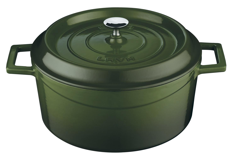 LAVA METAL Litinový hrnec kulatý 20 cm - zelený