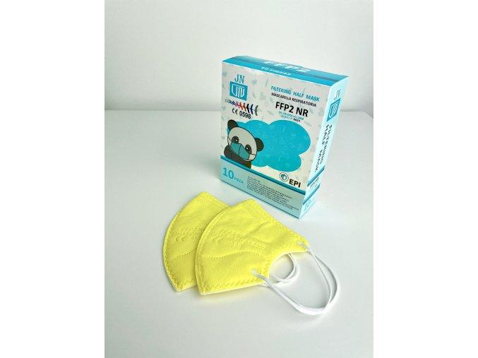 Dětské barevné respirátory FFP2 - 10 ks (Barva Černá)