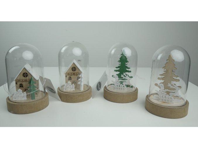 """Vánoční dekorace """"kopule"""" - 4 druhy"""