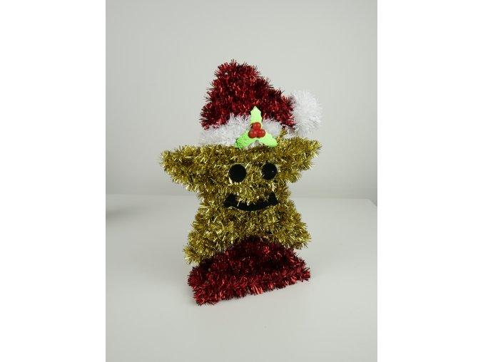 Střapatá vánoční 3D dekorace - více variant