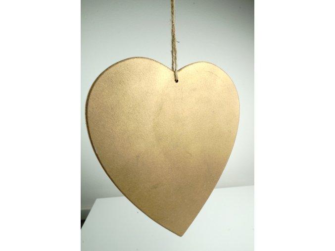 Dřevěná vintage dekorace ve tvaru srdce - 3 barvy