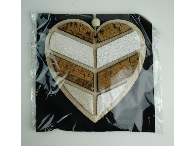 """""""Srdce"""" dřevěná dekorace - 3 typy"""