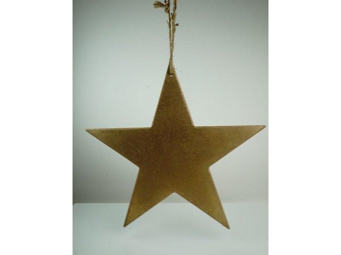 Dřevěná vintage dekorace ve tvaru hvězdy