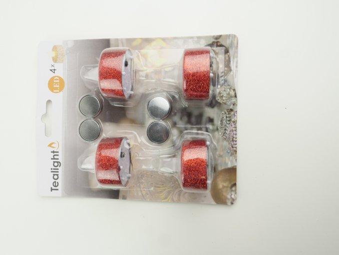 LED čajová svíčka 4 ks - 2 barvy