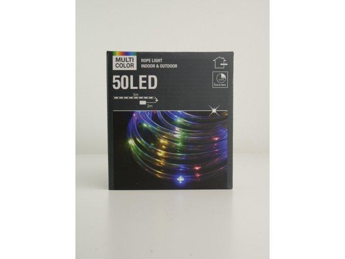 Barevný světelný řetěz 50 LED - 5 metrů