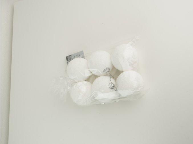 Bílé koule na zavěšení 6 ks