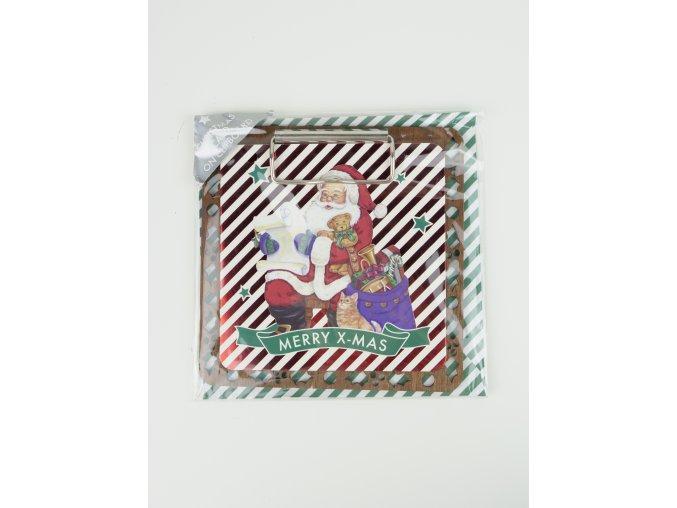 Vánoční pohlednice s podložkou - 3 varianty