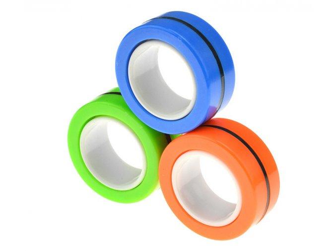 Antistresový magnetický spinner prsten kroužek Namixované barvy