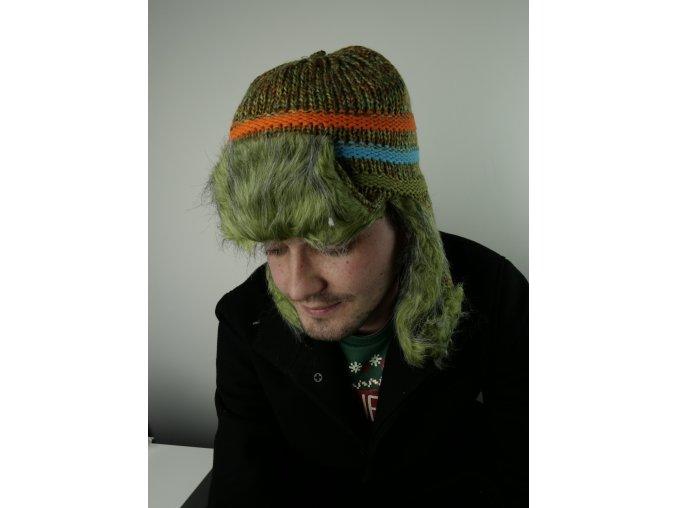 Barevná čepice s kožíškem - více barev