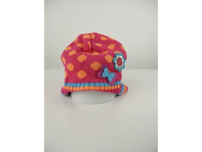 Dětská čepice s puntíky - více barev