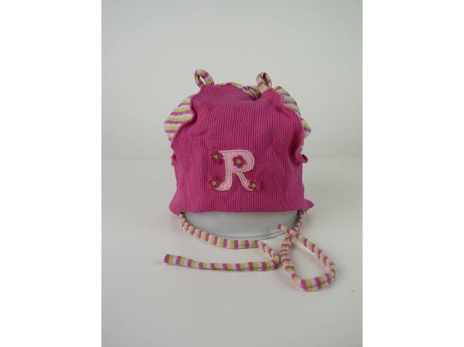 """Dívčí čepice """"R"""" - více barev"""