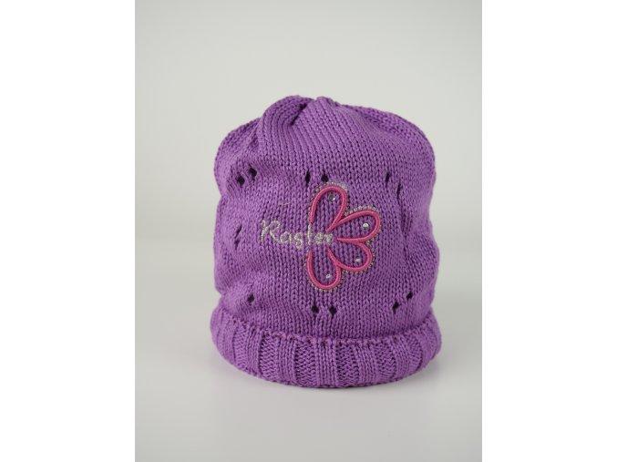 Dívčí čepice s kytičkou - více barev