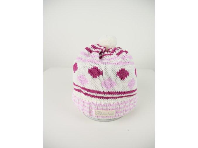 Dětská růžová čepice