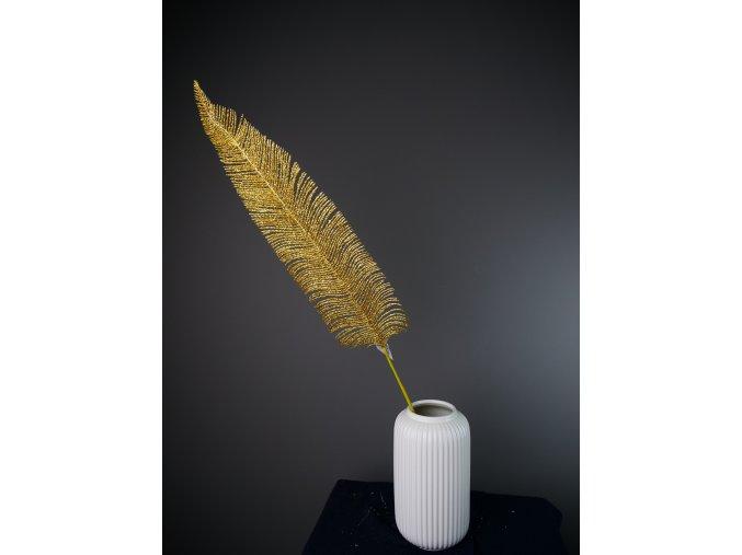 Dekorační pírko - stříbrná a zlatá