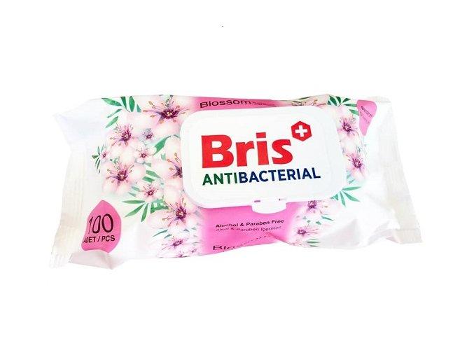 Antibakteriální ubrousky Bris PINK - 100 ks