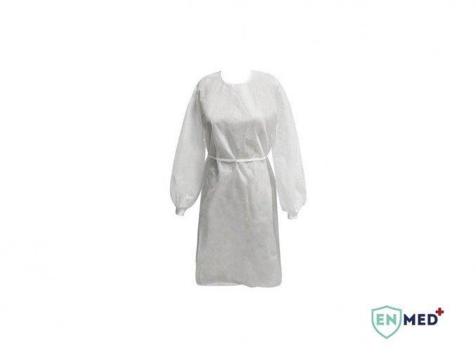 EnMed® Lékařský izolační plášť jednorázový - PP+PE 30-40 GSM, antistatický