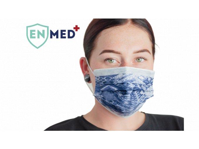 ENMED® Designová hygienická rouška 14 Aztec 10 ks