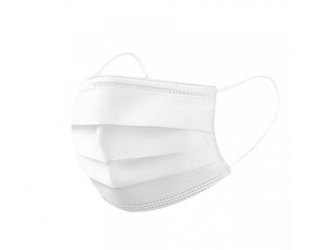 Jednorázová třívrstvá rouška bílá 10 ks