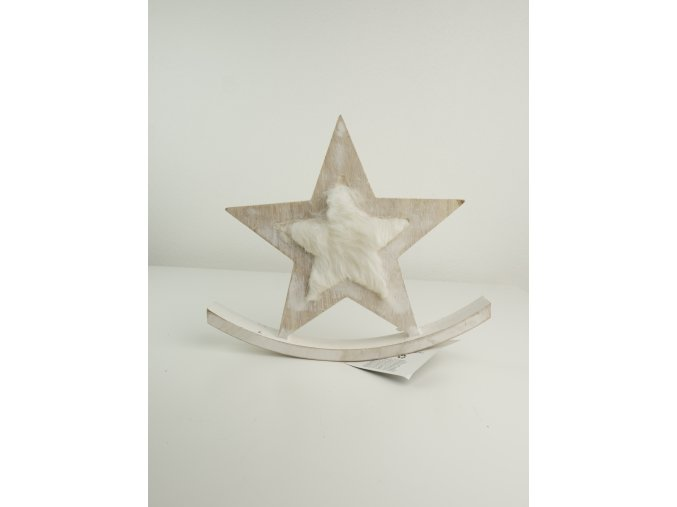 Dřevěné dekorace - koník, hvězdička, stromeček