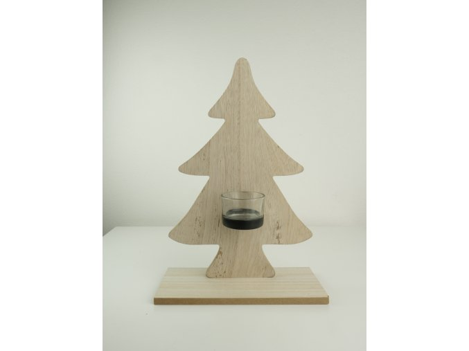 """Dřevěný svícen """"Stromeček"""""""