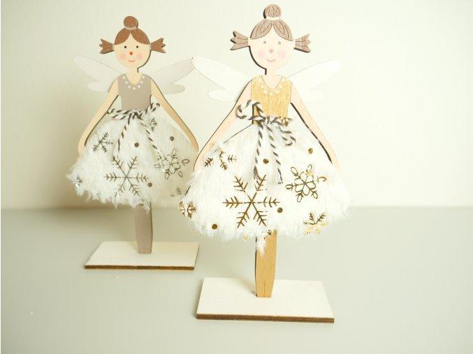 Dřevěná dekorace - Víla