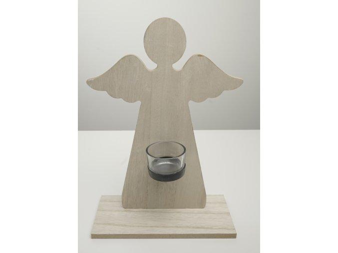 """Svícen dřevěný """"Anděl"""" (2 varianty)"""