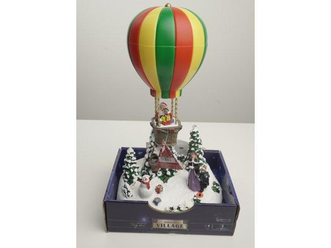 """Svítící dekorace """"Horkovzdušný balon"""" - 2 varianty"""