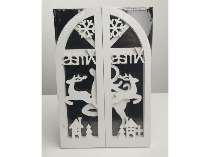 """Dřevěná závěsná dekorace """"Okno"""" - 2 varianty"""