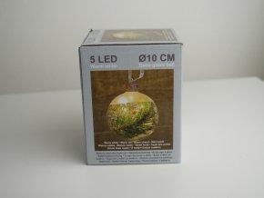 LED baňka se sněhem a větvičkou 1 ks