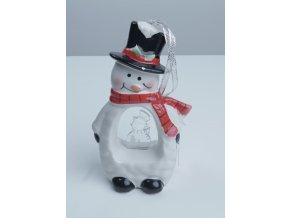 Keramická figurka - Stromeček, Sněhulák