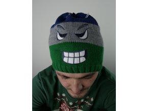 Čepice s obličejem - dvě barvy