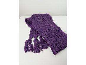 Fialová pletené šála