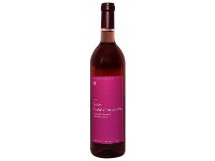 Zweigeltrebe rosé polosladké růžové  košer víno vyrobené pro Kiduš