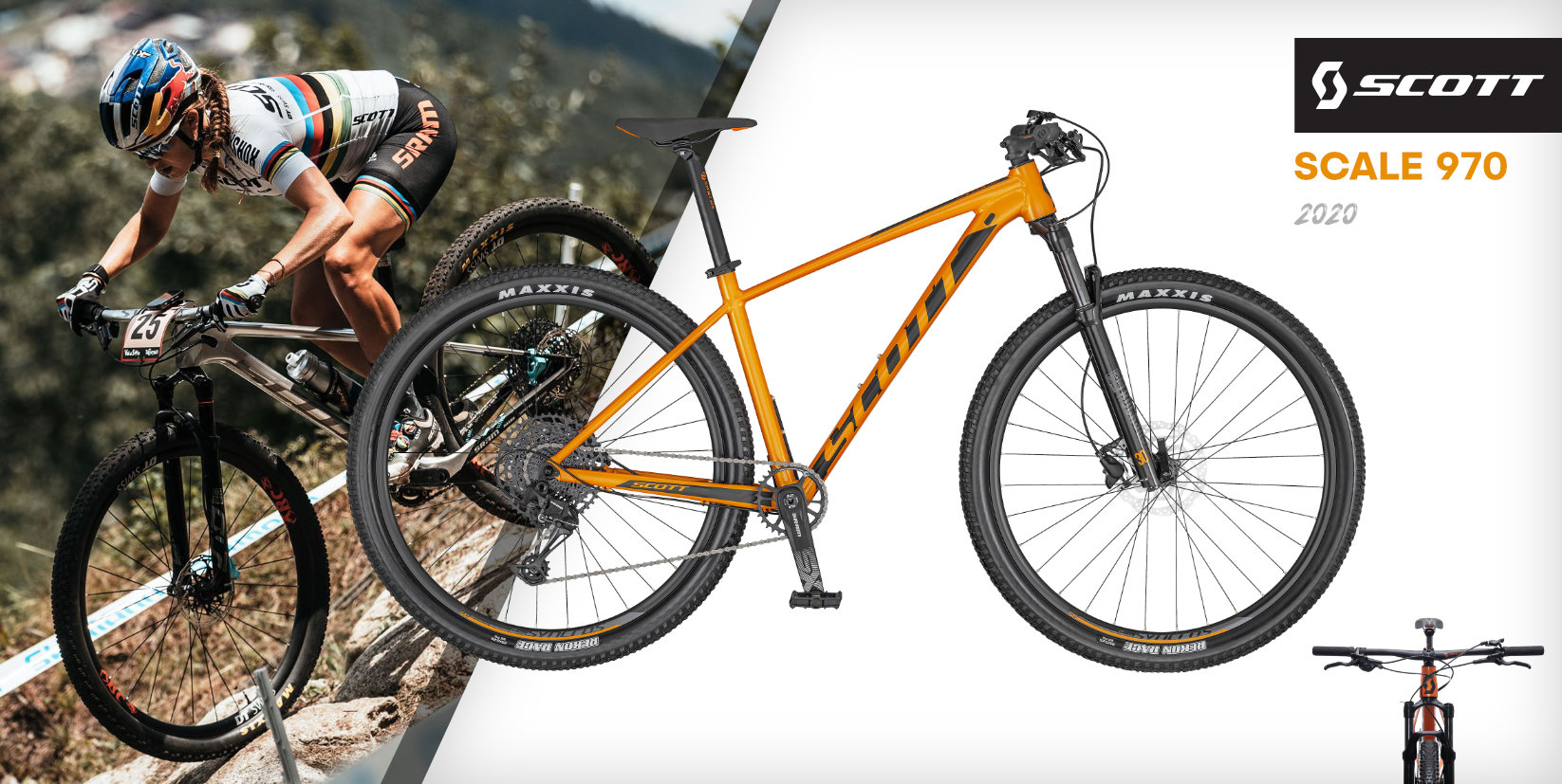 SCOTT Scale 970 Orange/Black 2020