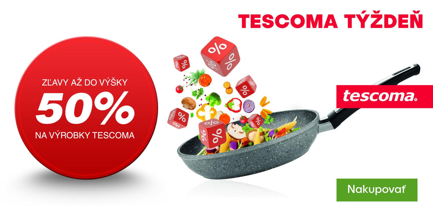 Zľavy až do výšky 50% na výrobky Tescoma