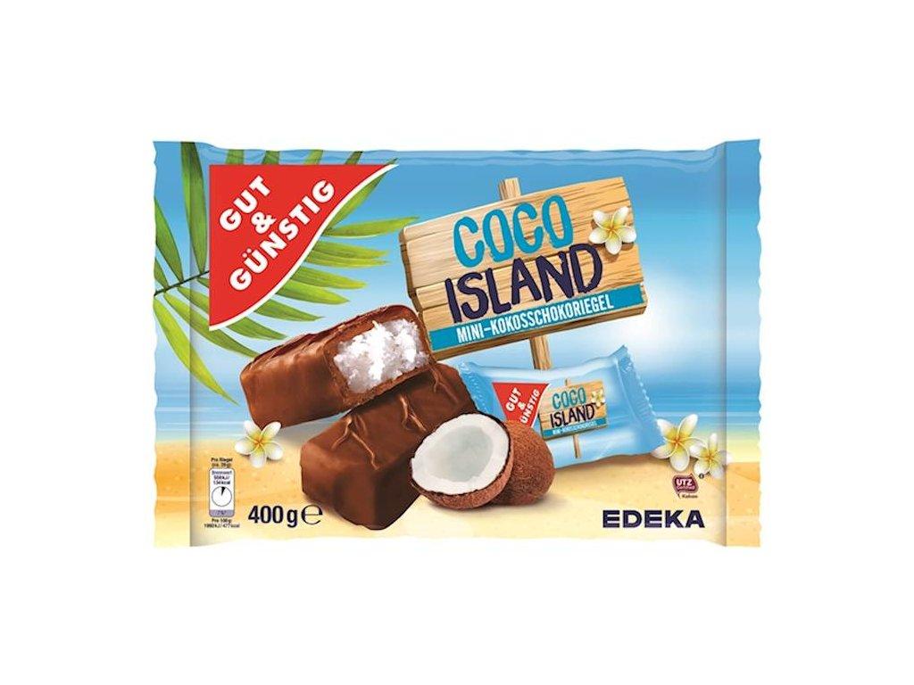 Mini - čokoládové tyčinky s kokosem COCO ISLAND 15ks G&G, 400 g