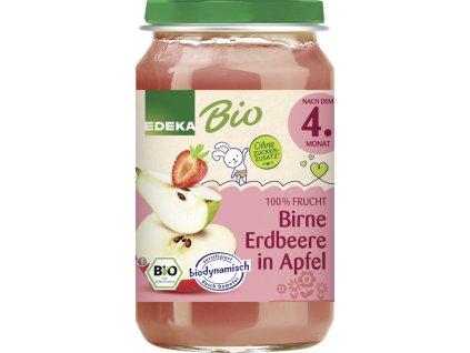 Ovocný příkrm BIO hruška & jahoda & jablko EDEKA, 190 g