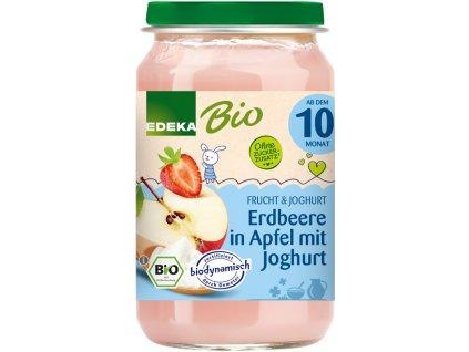 Ovocný příkrm BIO jahoda & jablko v jogurtu EDEKA, 190 g