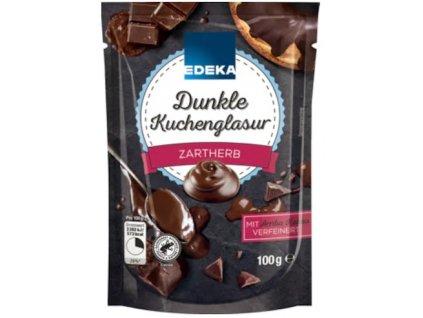 Cukrářská poleva tmavá EDEKA, 100 g