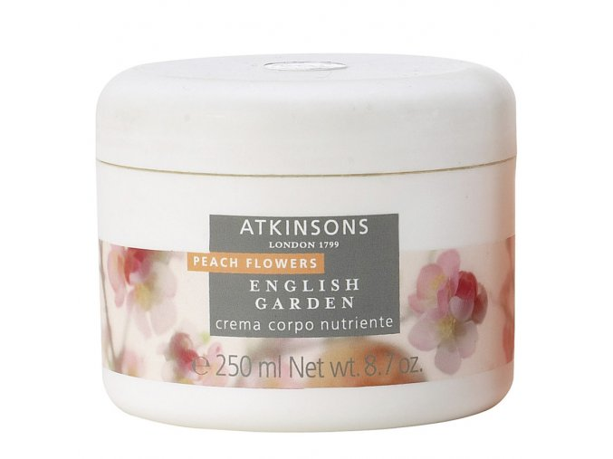 Atkinsons English Garden Peach Flowers Tělový krém  250 ml