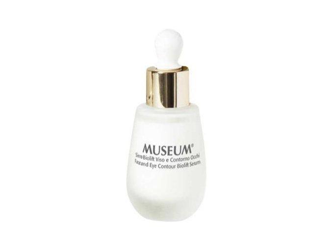 Bioliftingové sérum na obličej a oční okolí z extra panenského olivového oleje Museum  30 ml