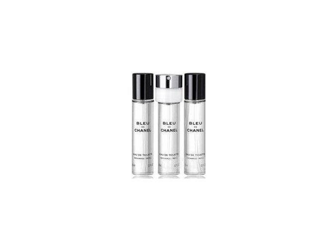 Chanel Bleu De Chanel parfémovaná voda pánská EDP  3x20 ml náplně + vzorek CHANEL k objednávce zdarma