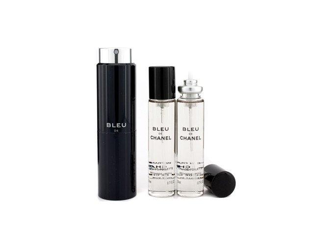 Chanel Bleu De Chanel parfémovaná voda pánská EDP  3x20 ml plnitelný twist set