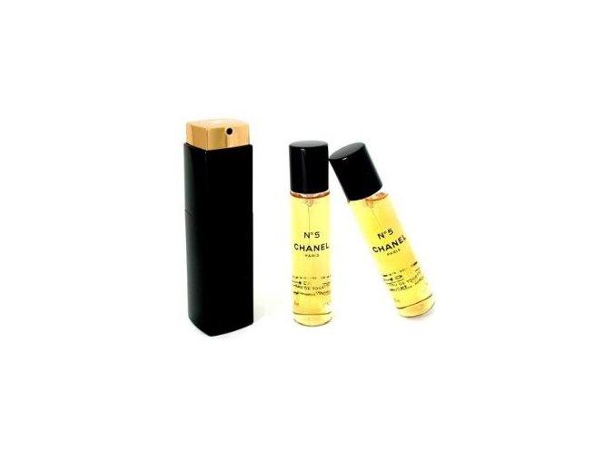 Chanel No.5 parfémovaná voda dámská EDP  3 x 20 ml plnitelný komplet twist set