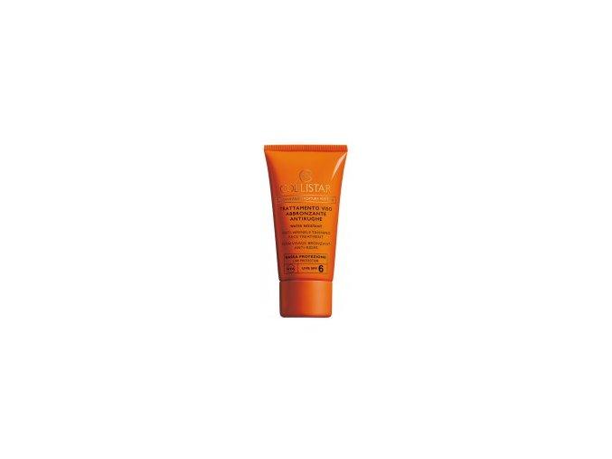 Collistar Anti Wrinkle Tanning Face Treatment SPF 6 50 ml  Opalovací krém na obličej proti vráskám