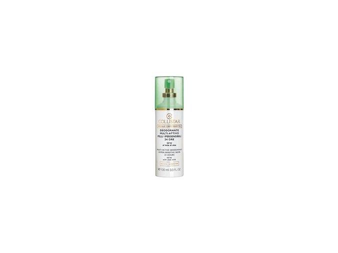 Collistar Deodorant Multi-Active® 24 hours Hyper Sensitive Skins Spray with aloe milk - alcohol free, fragrance free, paraben free, no gas 100 ml  DEODORANT MULTI-AKTIVNÍ ® 24 HODIN SPREJ NA PŘECITLIVĚLOU POKOŽKU S MLÉKEM Z ALOE VERA - BEZ ALKOHOLU,BEZ PLYNU, PARFEMACE A PARABENŮ